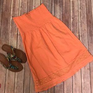 {Gap} Orange Creamsicle Strapless Swim Cover Up